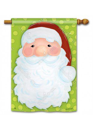 Jolly Saint Nick House Flag | Christmas Flags | Holiday Flags | Yard Flags