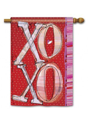XOXO House Flag | Valentine's Day Flags | Yard Flags | Cool Flags | Flags