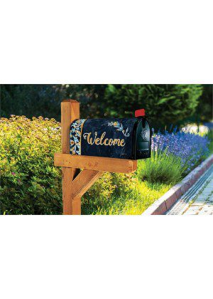 Indigo Elegance Mailbox Cover | Decorative Mailwraps | Mailbox Covers