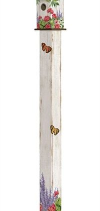 Summer Garden Birdhouse Art Pole | Art Poles | Birdhouses | Bird Houses