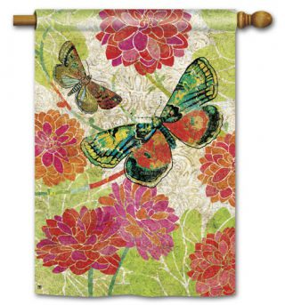 Boutique Butterflies House Flag | Summer Flags | Floral Flags | Yard Flags