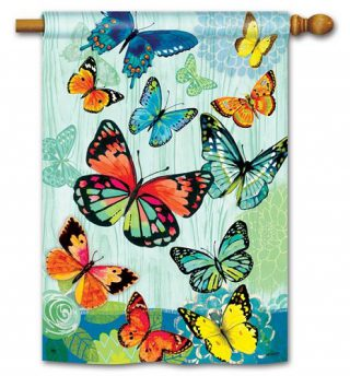 Butterfly Flight House Flag | Spring Flags | Summer Flags | Yard Flags