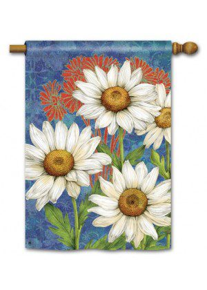 Designer Daisies House Flag   Spring Flags   Floral Flags   Yard Flags