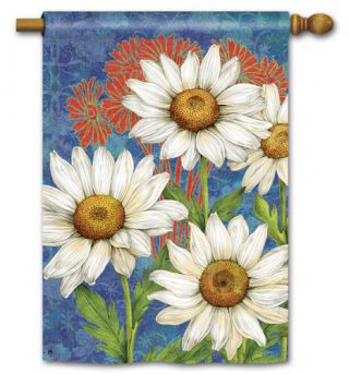 Designer Daisies House Flag | Spring Flags | Floral Flags | Yard Flags