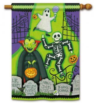 Monster Mash House Flag | Halloween Flags | Holiday Flags | Yard Flags