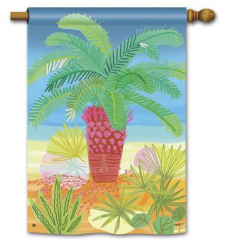 Pretty Palm House Flag | Beach Flags | Floral Flags | Yard Flags