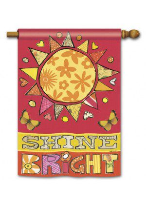 Sunshine House Flag | Inspirational Flags | Floral Flags | Yard Flags