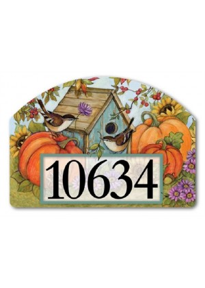 Autumn Birdhouse Yard Sign | Address Plaque | Yard Signs | Garden Decor