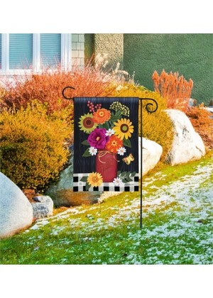 Autumn Blooms Garden Flag | Fall Flags | Floral Flags | Garden Flags