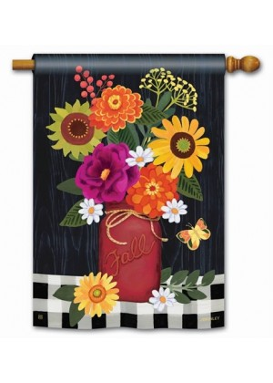 Autumn Blooms House Flag | Fall Flags | Floral Flags | Yard Flags