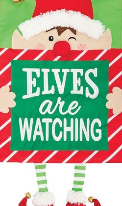 Elves Watching Applique Flag | Applique Flags | Christmas Flag | Cool Flag