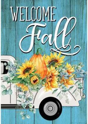 Floral Truck Flag | Fall Flags | Farmhouse Flag | Double Sided Flags