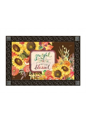 Grateful Bouquet Doormat | Doormats | MatMates | Decorative Doormats