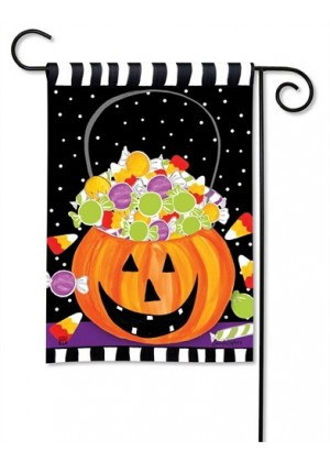 Halloween Candy Garden Flag | Halloween Flags | Yard Flag | Garden Flag