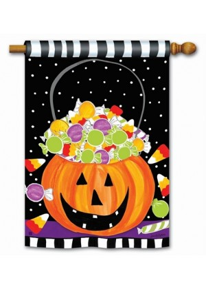 Halloween Candy House Flag | Halloween Flags | Yard Flags | House Flag