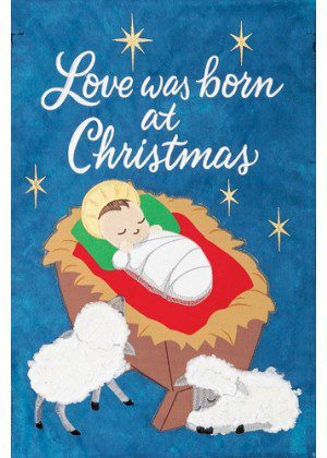 Jesus & Lambs Applique Flag | Applique Flags | Christmas Flag | Cool Flag