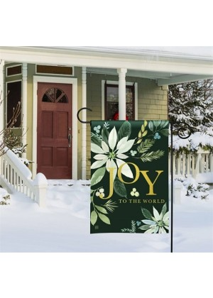 Poinsettia Joy Garden Flag | Winter Flags | Christmas Flags | Garden Flag
