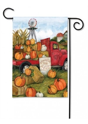 Pumpkins for Sale Garden Flag | Fall Flags | Floral Flags | Garden Flags