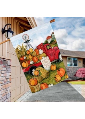 Pumpkins for Sale House Flag | Fall Flags | Floral Flags | Yard Flags