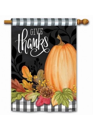 Season of Thanks House Flag | Thanksgiving Flags | Fall Flags | Yard Flag