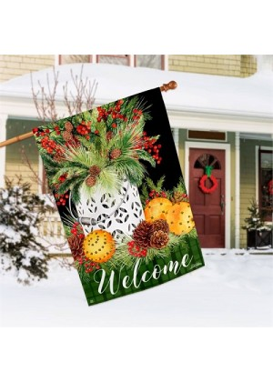 Spiced Oranges House Flag | Winter Flags | Welcome Flags | House Flags