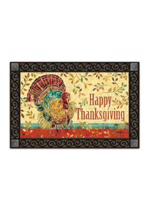 Thanksgiving Turkey Doormat | Doormats | MatMates | Decorative Doormat