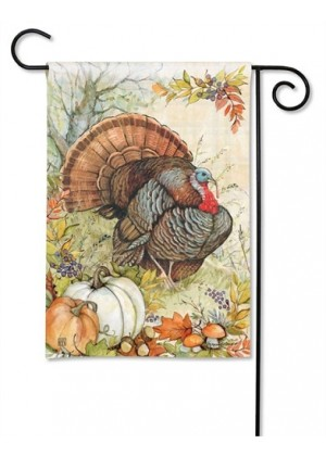 Turkey Garden Flag | Thanksgiving Flags | Fall Flags | Garden Flags