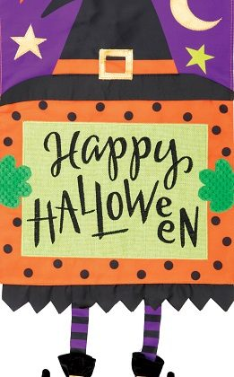 Witch Legs Applique Flag | Halloween Flags | Applique Flags | Cool Flags