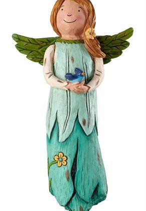 Bluebird Happiness Garden Angel | Decorative Angels | Garden Angels