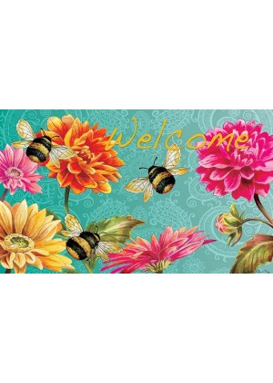 Bumble Bees in the Garden Doormat | Doormats | Decorative Doormats