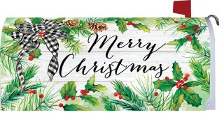 Christmas Greens Mailbox Cover | Mailbox Covers | Mailwraps | Mail Wrap
