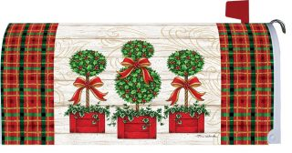 Christmas Topiary Mailbox Cover | Mailbox Covers | Mailwraps | Mail Wrap