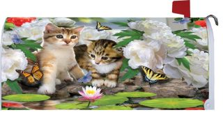 Dreamy Kittens Mailbox Cover | Mailbox Covers | Mailbox Wrap | Mailwrap