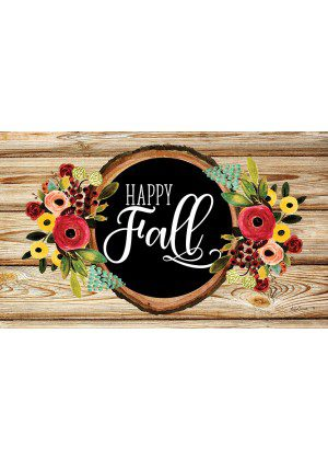 Fall Floral Wreath Doormat | Doormats | Decorative Door Mats | MatMates