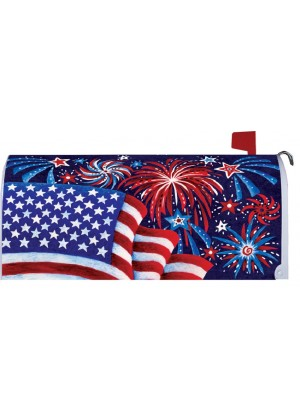 Fireworks and Flag Mailbox Cover | Mailbox Covers | Mailbox Wraps