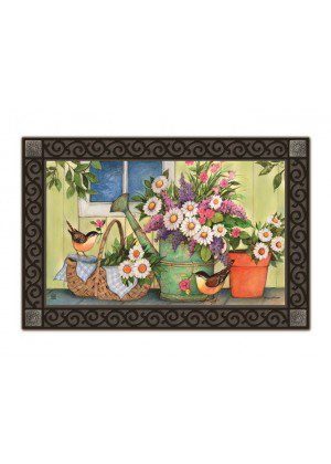 Front Porch Flowers Doormat | Doormats | MatMates | Decorative Doormat