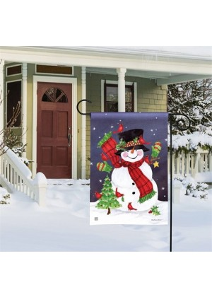 Frosty Friends Garden Flag | Winter Flag | Snowman Flag | Christmas Flag