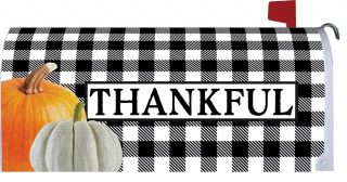 Gingham Thankful Mailbox Cover | Mail Box Covers | Mailwrap | Mail Wrap