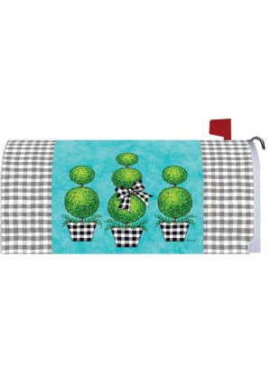 Gingham Topiary Mailbox Cover | Mailbox Cover | Mailbox Wrap | MailWrap