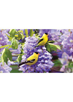 Goldfinch Wisteria Doormat | Doormats | Decorative Doormats | Door Mats