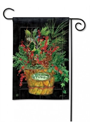 Holiday Door Garden Flag | Christmas Flags | Floral Flags | Garden Flags