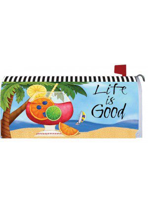 Life is Very Good Mailbox Cover | Mailbox Cover | Mailbox Wraps