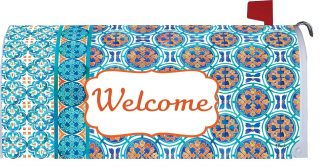 Moroccan Tile Mailbox Cover   Mailbox Covers   Mailbox Wraps   Mail Wrap