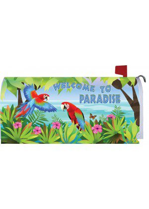Paradise Parrots Mailbox Cover | Mailbox Covers | Mailbox Wraps