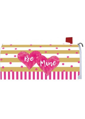 Pink & Gold Hearts Mailbox Cover | Mailbox Cover | Mailbox Wraps