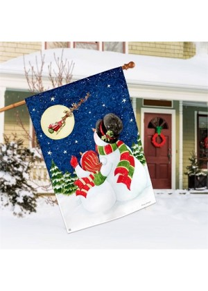 Santa Trackers House Flag | Winter Flag | Snowman Flag | Christmas Flag