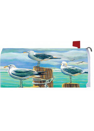 Seagull Pilings Mailbox Cover | Mailbox Covers | Mailbox Wraps | Mailwrap