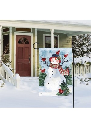 Snowman Friends Garden Flag | Winter Flags | Snowman Flag | Yard Flag