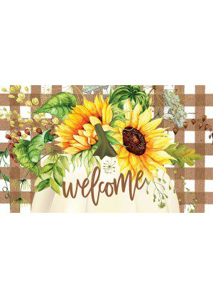 Sunflower Pumpkin Doormat | Doormats | Decorative Door Mats | MatMate