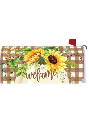 Sunflower Pumpkin Mailbox Cover | Mail Box Cover | Mailwrap | Mail Wrap